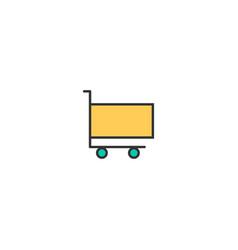 cart icon line design business icon design vector image