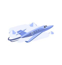 cartoonist 3d jet plane background concept vector image