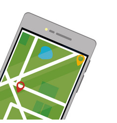 Cellphone with map vector