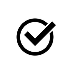 checkmark icon on isolated backgroundsymbol of vector image