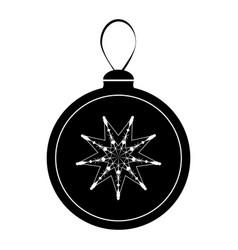 christmas ball icon vector image
