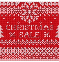 Christmas Sale Scandinavian style seamless knitted vector image