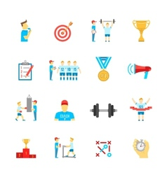 Coaching sport icons set vector