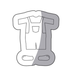 Contour with male clothing pijama mameluke short vector