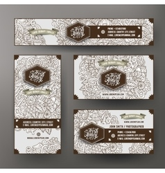 Corporate Identity templates set design with vector image
