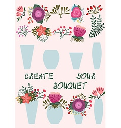 Create your bouquet vector