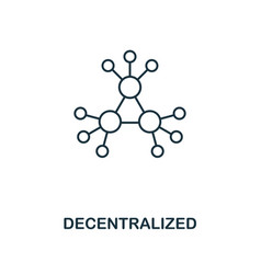 decentralized outline icon monochrome style vector image