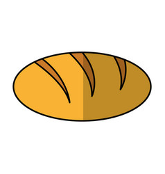 Delicious bread bakery product vector