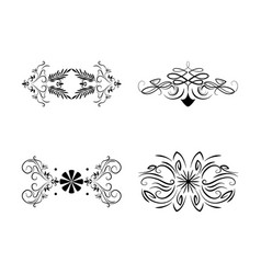 Dividers vignette floral scroll decoration vintage vector