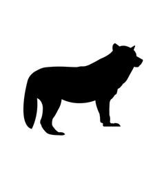 dog silhouette icon fox icon vector image