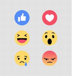 Facebook emojis vector