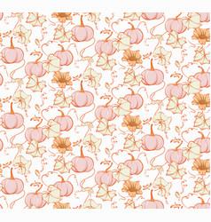 Fall pumpkin seamless pattern fairy tale nursery vector