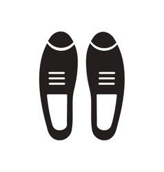 Flat icon in black and white male shoes vector