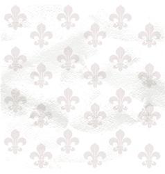 Fleur-de-lys seamless background on grange paper vector