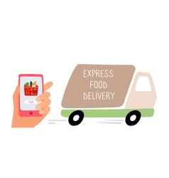 food delivery track vector image