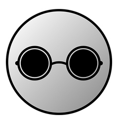 Glasses button vector