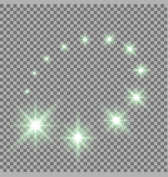 glittering flying stars green color vector image