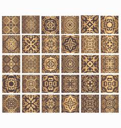 Golden tiles collection vector