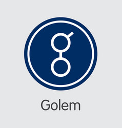 golem - cryptocurrency logo vector image