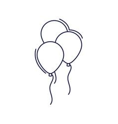 happy birthday balloons decoration festive vector image