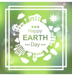Happy Earth Day Eco Green Poster Design vector