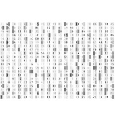 Hex code stream random hexadecimal code abstract vector