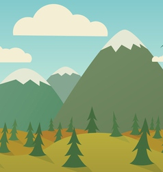 Horizontal nature seamless vector