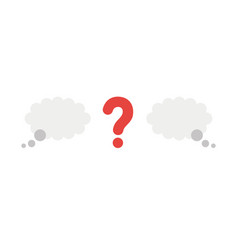 icon concept of question mark between thought vector image