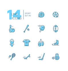 kinds sport - line icons set vector image