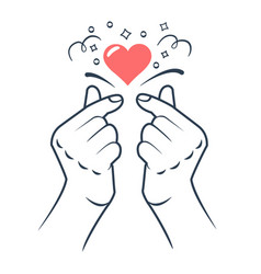 Korean love sign vector