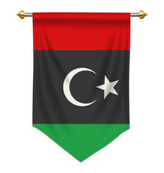Libya pennant vector