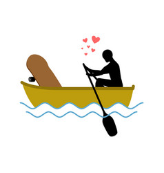 Lover skateboarding skateboard and guy ride in vector