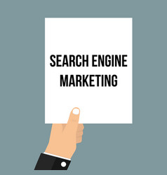 man showing paper search engine marketing vector image