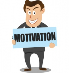 Motivation businessman vector