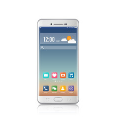 new realistic mobile white smartphone modern vector image
