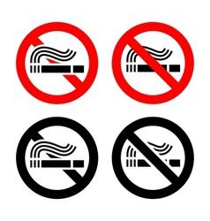 No smoking symbols set vector