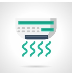 Office air conditioner flat color icon vector image