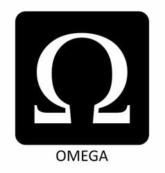 omega symbol vector image