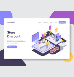 online shopping discount isometric vector image