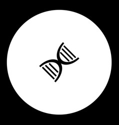 Part of dna simple black and green icon eps10 vector
