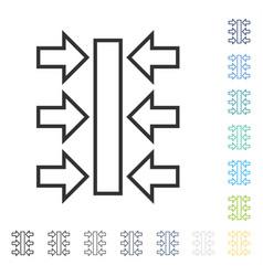 Pressure horizontal icon vector