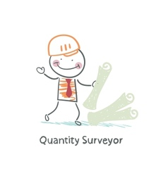 Quantity Surveyor with the documents vector image