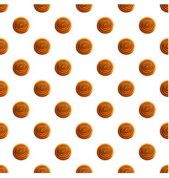 round biscuit pattern seamless vector image