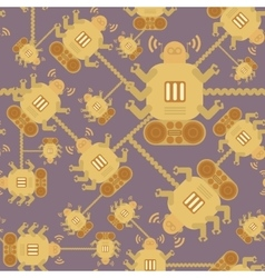 seamless Robot patterncartoon vector image
