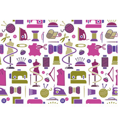 sewing and needlework background vector image