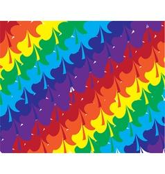 shamrock rainbow vector image