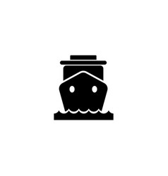 Ship liner flat icon vector