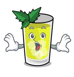 Surprised mint julep mascot cartoon vector