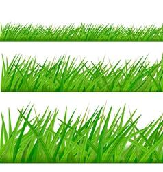 Three grass borders vector