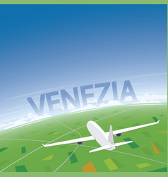 Venice flight destination vector